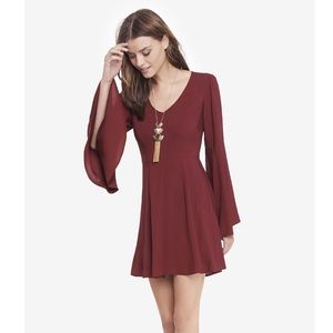 Express Long flare sleeve dress